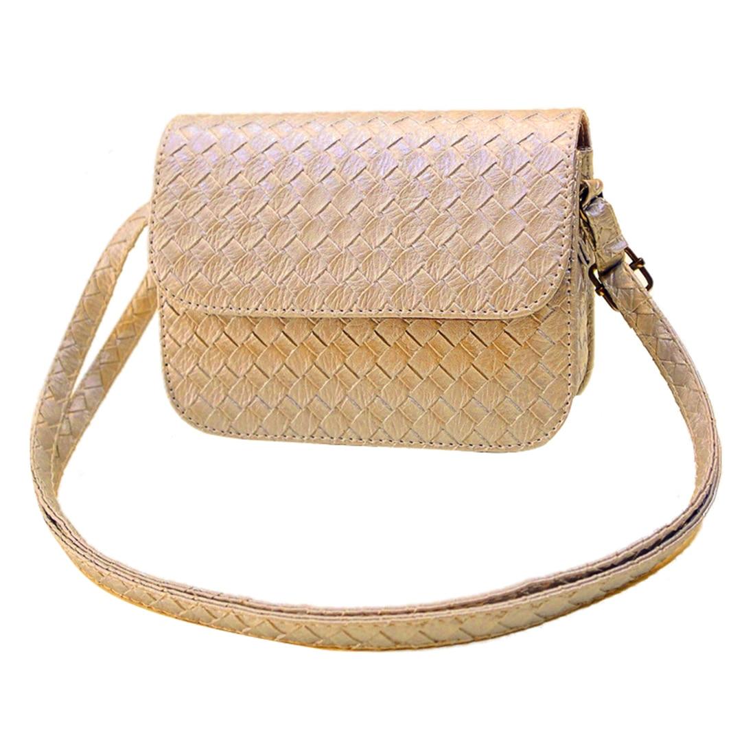 FGGS New Womens PU Leather Handbag Fashion Shoulder Bag Clutch Tote Purse Messenger(Gold) new womens shoulder leather bag clutch handbag tote purse hobo messenger bag popular