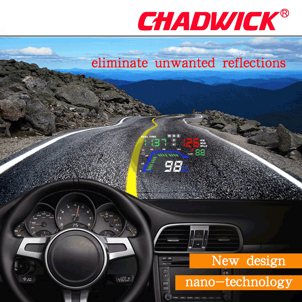 Image 4 - Universal Multi Color Auto Car HUD GPS Head Up Display Speedometers Overspeed Warning Dashboard Windshield Projector CHADWICK Q7-in Head-up Display from Automobiles & Motorcycles