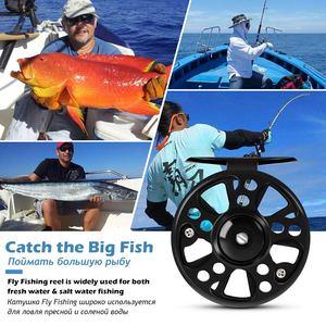 Image 5 - Aluminium Fly Fishing Reel 3/4 5/6 7/8 WT High Quality Left & Right Hand Changed Fishing Wheel CNC Large Arbor Fishing Reel Fly