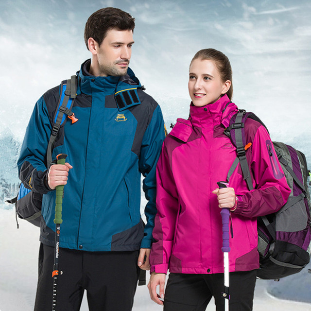 d441070b63 Women 3 in 1 Jacket Men Two Pieces Thermal Winter Coat Mountaineering Jacket  Lovers Outdoor Sport Jacket Waterproof Windbreaker