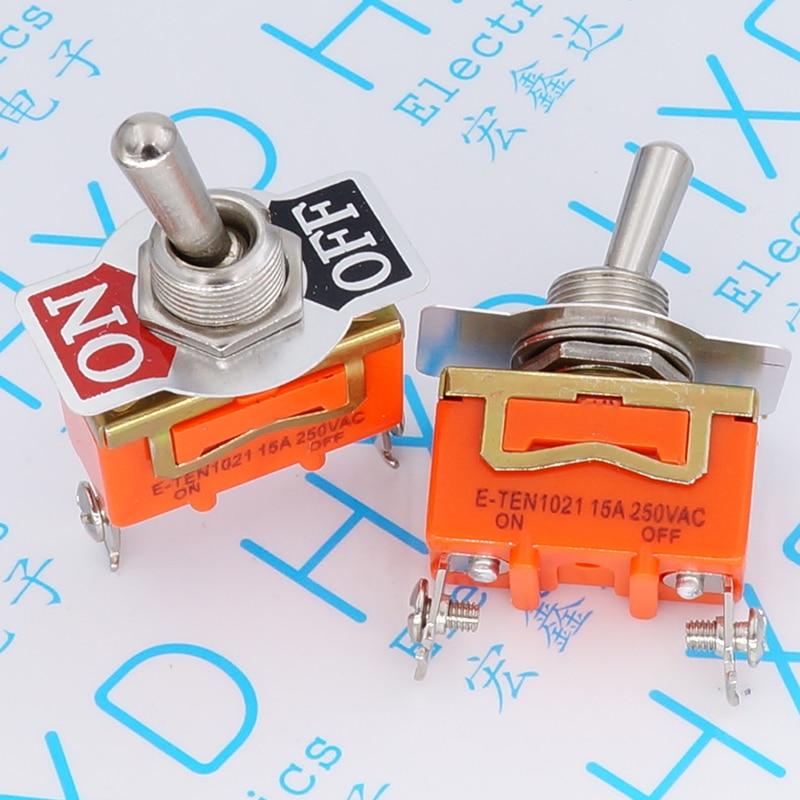 E-TEN1021 interrupteur à bascule Secouer la tête interrupteur à bascule Deux pieds et deux 15 a/250 v