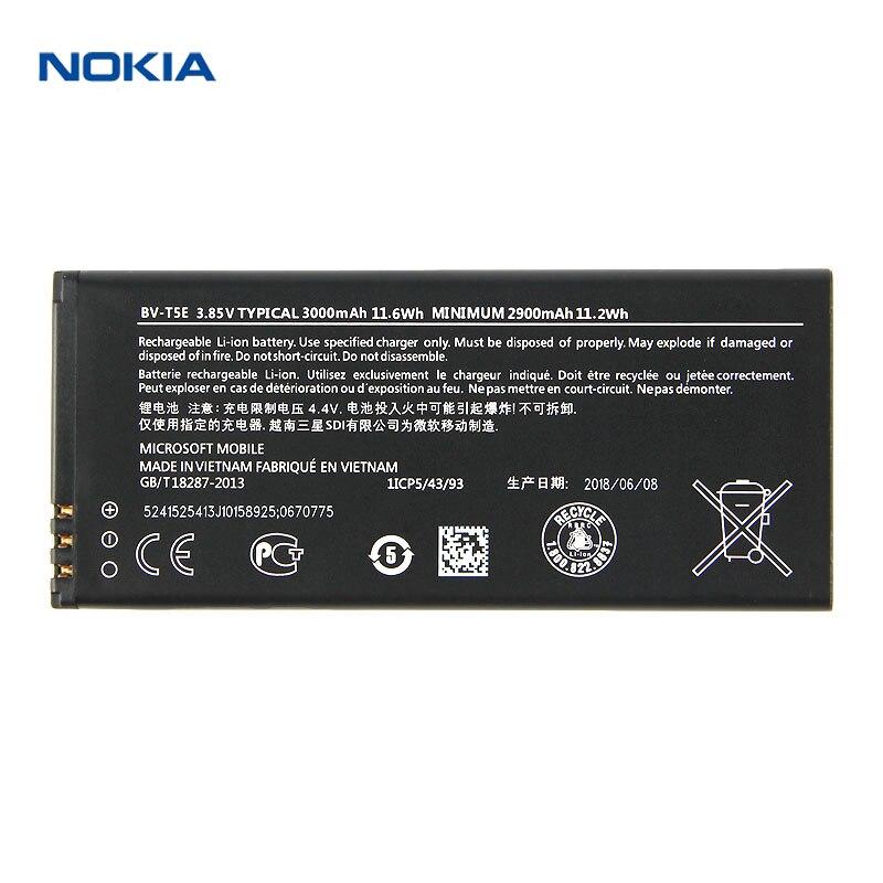 D'origine Nokia BV-T5E téléphone batterie pour Nokia Lumia 950 RM-1104 RM-1106 RM-110 McLa BVT5E 3000 mah 2018