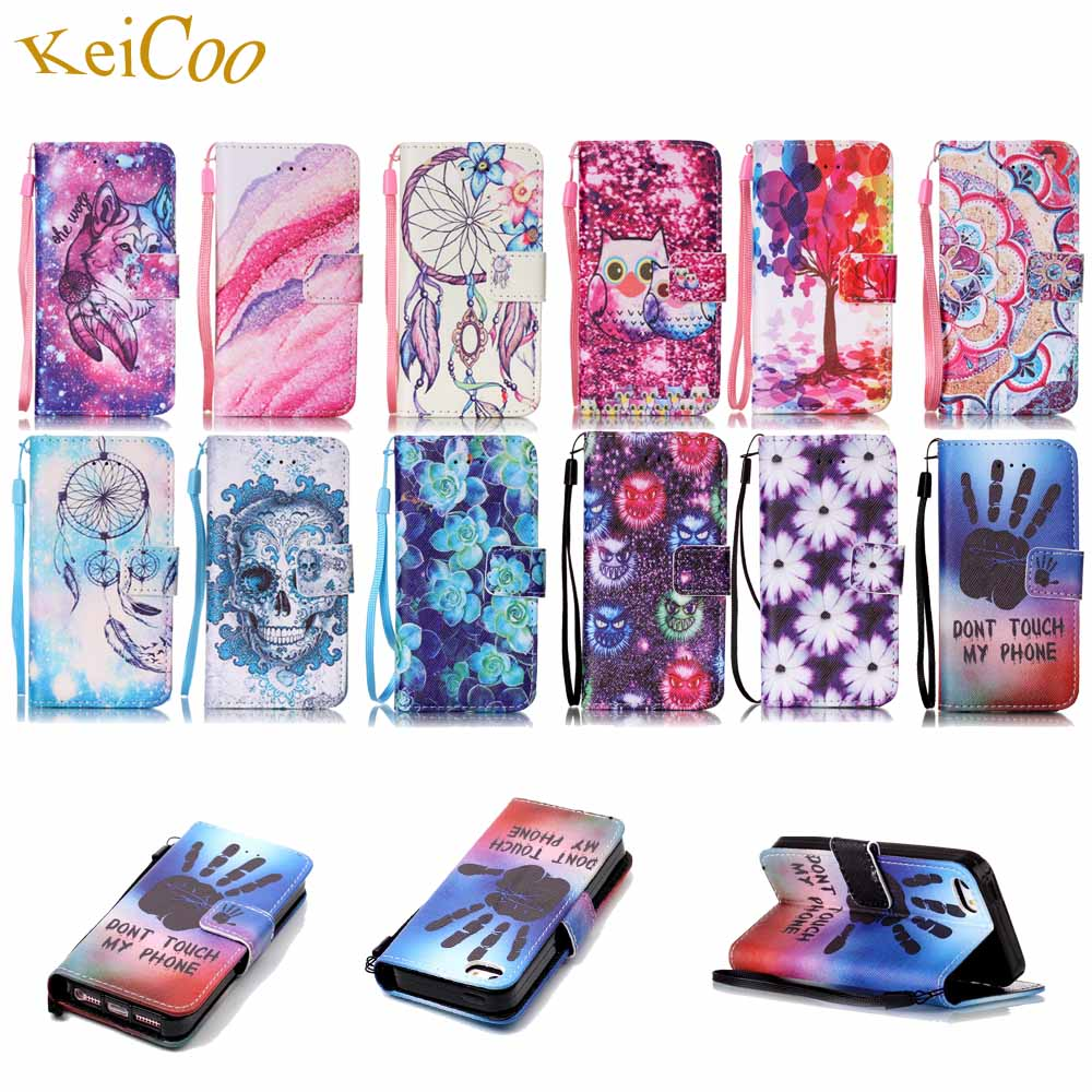 Book Flip PU Leather Phone Cases For Samsung Galaxy Grand Prime VE SM-G531H Duos Art painting Printing Covers Card Slot TPU Case