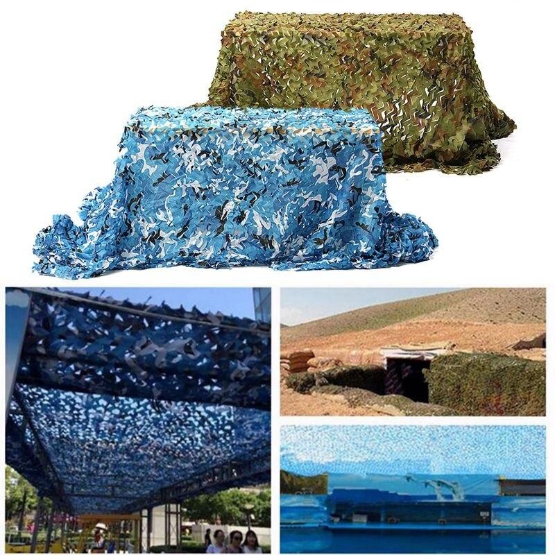En gros 5x2 m En Plein Air Camo Net Militaire Camouflage Filet Maille Jeux Cacher Camouflage Net Chasse Camping Net Jardin Couverture de voiture