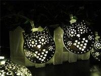 20 светодиодный 5 см Фея Металл Сова Солнечный Мощность огни строки 2 м светодиодный украшения для Рождественский венок Новый год gerlyanda