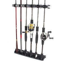 Fishing Rod Display Fixed Frame ABS Stand Road Fish Raft Storage Rack Reel Combos Holder Vertical