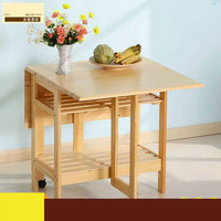 1PC Square Coners Coffee Dining Dinner Table (NO Drawer/Chair) Pine Solid Wood Living Room Furniture Children Lacquer Health