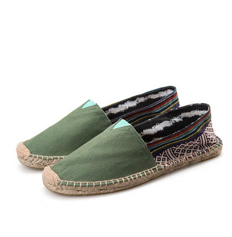 Mujeres Hombres Enredaderas zapatos Casuales resbalón en Los Zapatos de Lona par