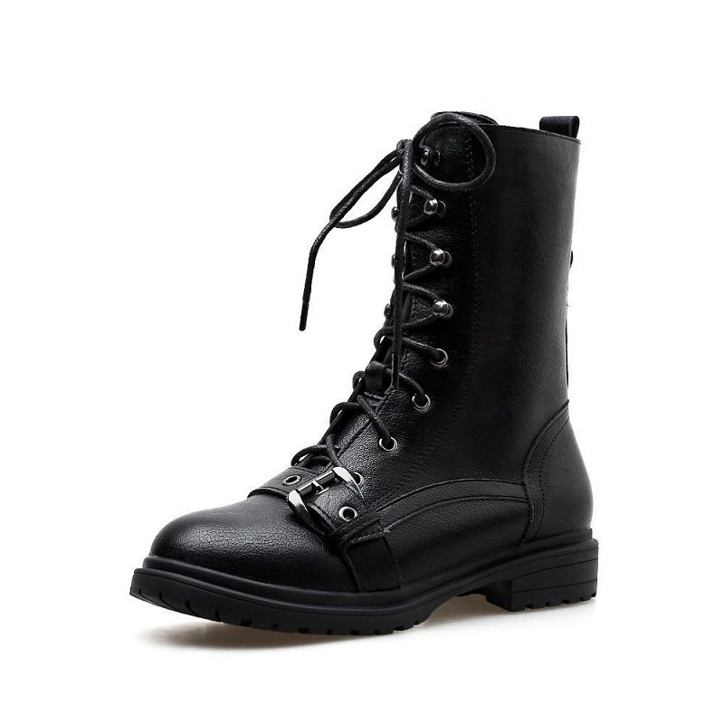2018 autumn and winter new wild side zipper single in the tube Martin boots womens boots black ljj 01162018 autumn and winter new wild side zipper single in the tube Martin boots womens boots black ljj 0116
