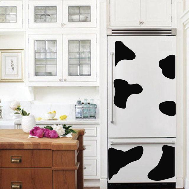 Vaca disfraz etiqueta del refrigerador vaca vinilo etiqueta para ...