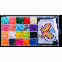 20 Color Perler Beads 2000pcs Box Set 5mm Hama Beads EVA Fuse Beads For Children Education