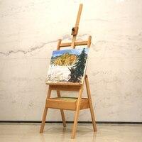 Flodable деревянный мольберт рисования акварель леса альбом с ящиками посадка может поднять взрослых картина маслом frame