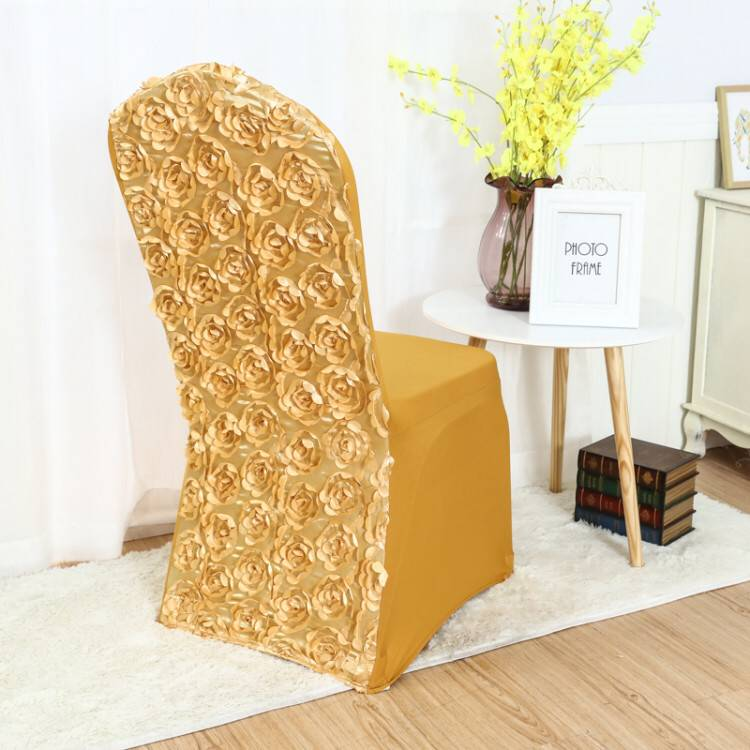 MARIOUS 100pcslot rosette chair cover for wedding chair decoration banquet chair cover  Wholesale good  quality free shipping