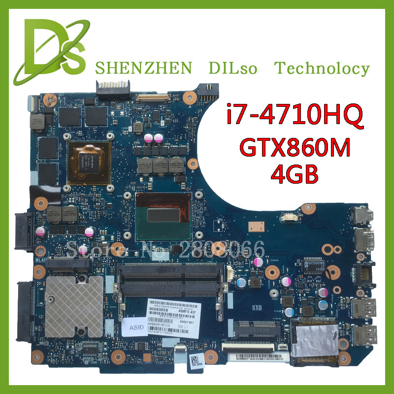все цены на For ASUS G551JM Motherboard N551JM REV2.0 processor i7-4710HQ GeForce GTX860M 4GB USB2.0 HM86 DDR3 VRAM 100% fully Tested онлайн