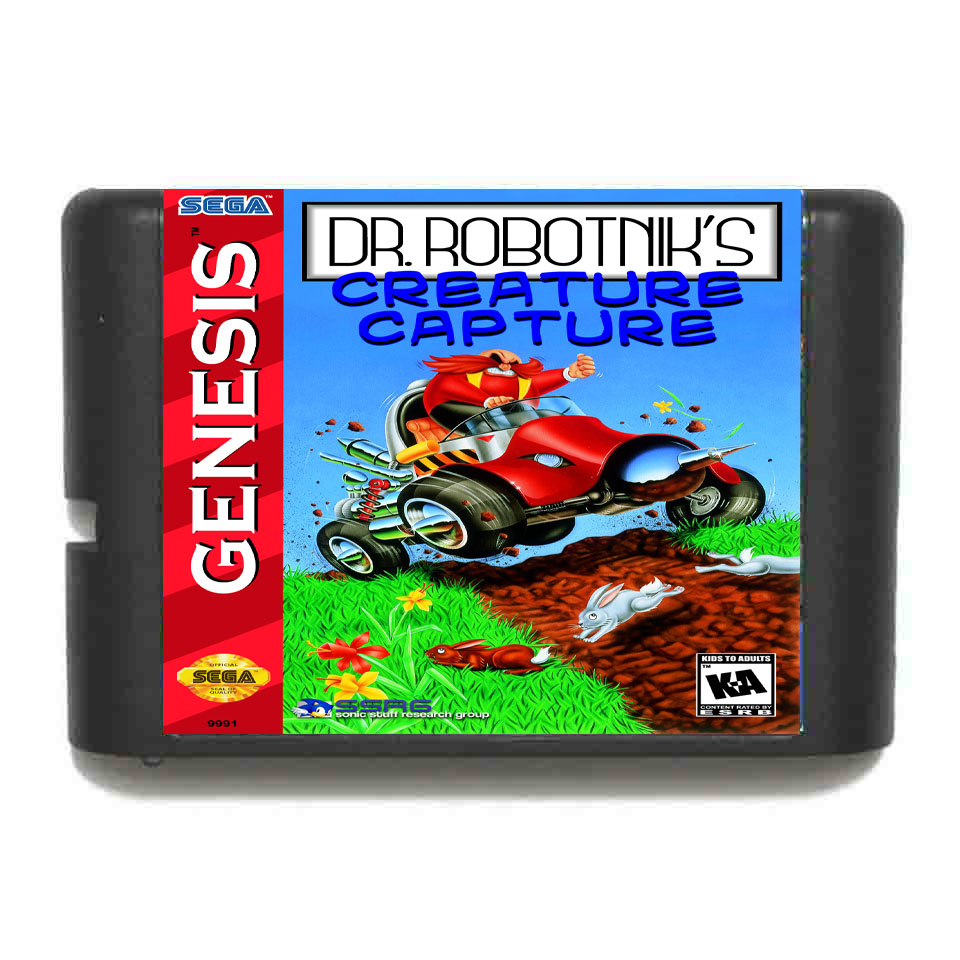 Dr. Robotnik's Mean Creature Capture 16 bit MD Game Card For 16 bit Sega MegaDrive Genesis game console