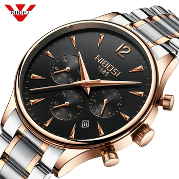 NIBOSI Luxury Brand Watch Men Sport Watches Waterproof Quartz Male Clock Military Wrist Watch Relogio Masculino Montre 2019 Saat