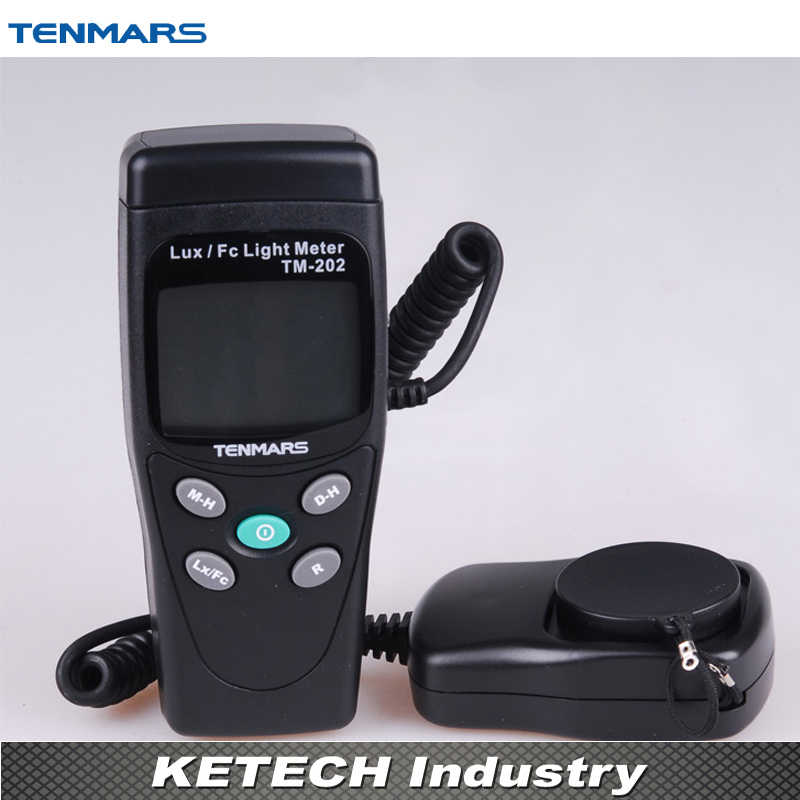 TM-202 Light Meter Digital LED Light Meter Luminometer Lux Meter with maximum reading 2000