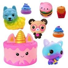 Cute Kawaii Cartoon bear cake Toys Slow Rising Cream Scented Squeeze Toys Novelty Antistress Gift Pendant Pendant