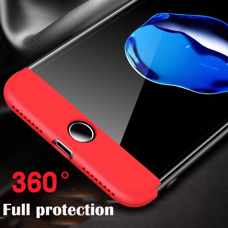 Dattap для iPhone 6 6 S 7 8 плюс телефон чехол для iPhone 5S 5 SE X случай 3 в 1 Матовая Жесткий PC 360 Полный Защитная крышка Fundas