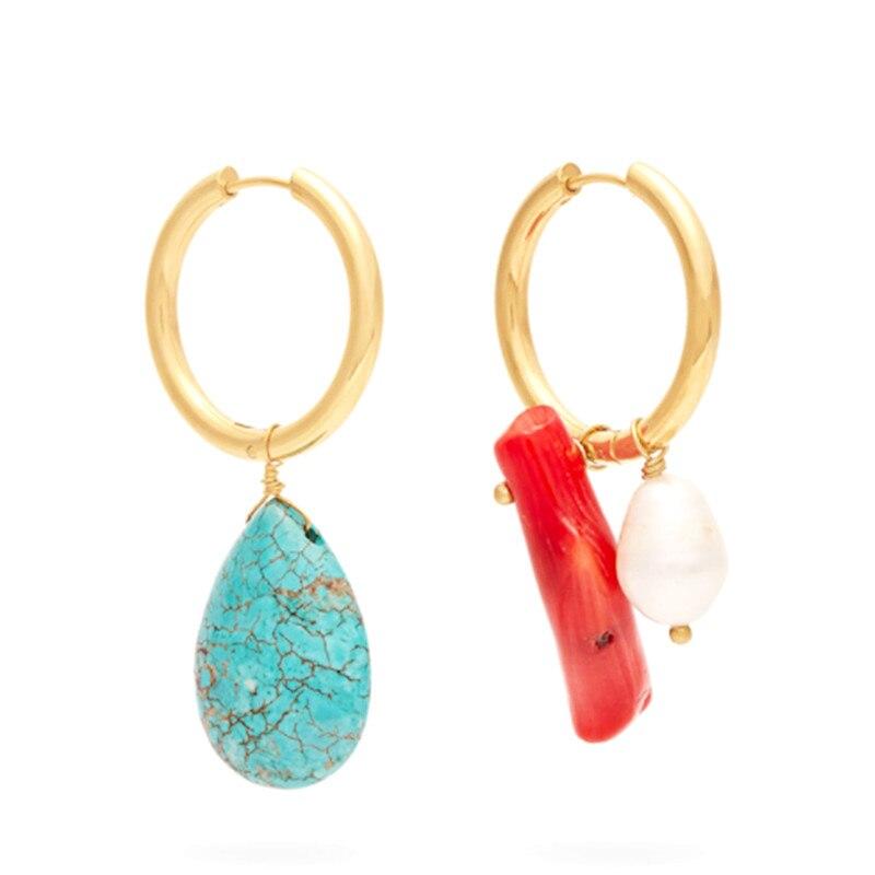 Pendientes pendientes mujer mujer moda brincos 2019 boho brinco queda shell pérola hoop brincos declaração brincos gota jóias