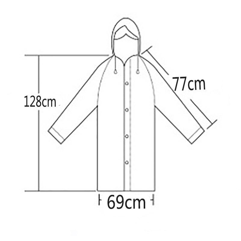 Žene Kišni kaput Krovni pokrivač Vodootporni Prozirni kišni - Kućanski robe - Foto 6
