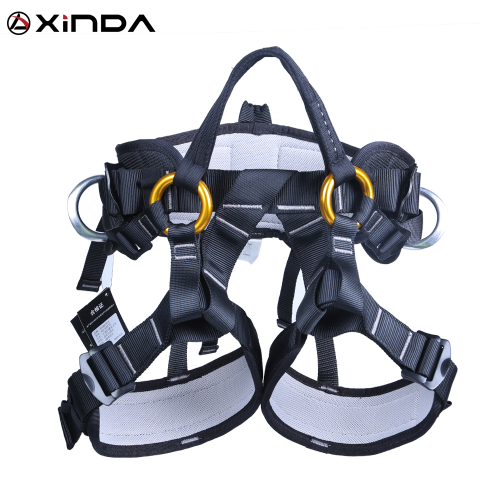 XINDA Camping Outdoor Hiking Rock Climbing Half Body Waist Support Safety Belt Climbing Tree Harness Aerial Sports Equipment xinda camping outdoor hiking rock climbing half body waist support safety belt harness aerial equipment