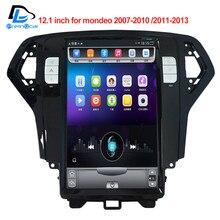 32 г rom вертикальный экран android автомобильный gps мультимедийный видео радио плеер 12,1 дюймов для Ford Mondeo 2007-2013 лет navigaton система