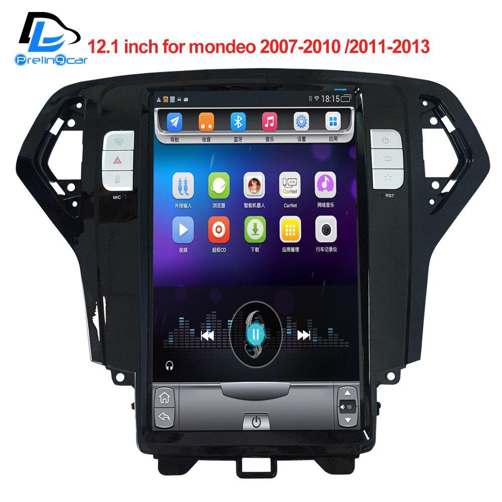 32g ROM Vertical écran android voiture gps multimédia vidéo radio player 12.1 pouce pour Ford Mondeo 2007-2013 ans navigaton système