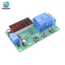цена на DC 24V 12V Delay Relay 3 Button 4 Digit Digital Tube LED Digital Time Delay Relay Trigger Cycle Timer Delay Switch Circuit Board