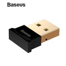 Baseus Mini USB Bluetooth Adapter Gadget Bluetooth 4.0 PC Computer Music USB Receiver Adapter for ps4 Wireless Mouse Keyboard(China)