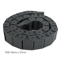 18mm x 37mm R38 Cadena Portacables de Plástico Semi Cerrado Portador del alambre de la Longitud de 1 m para la Impresora 3D Máquina CNC Router herramientas