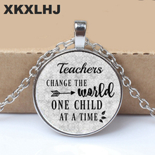 Gift for Teacher,Daycare provider,Teacher charm necklace,Teacher Appreciation Gift,TEACHERS CHANGE the World One child at a time