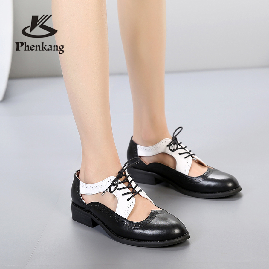 Genuine cow leather women sandals flat shoes vintage handmade oxford shoes for women sandals shoes green