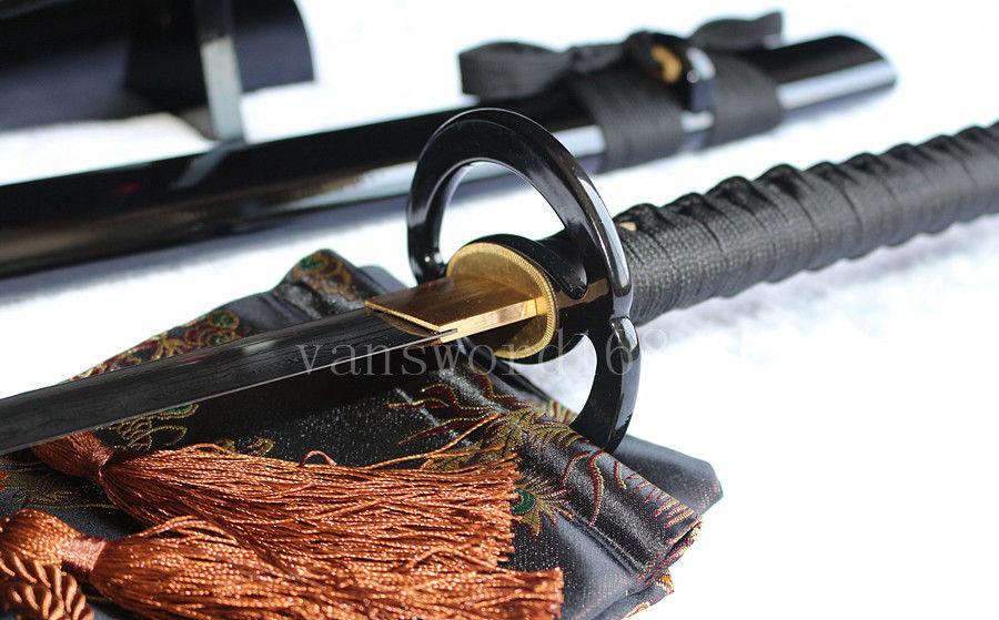 əl saxta damask polad yapon samuray real qılınc katana iti - Ev dekoru - Fotoqrafiya 6