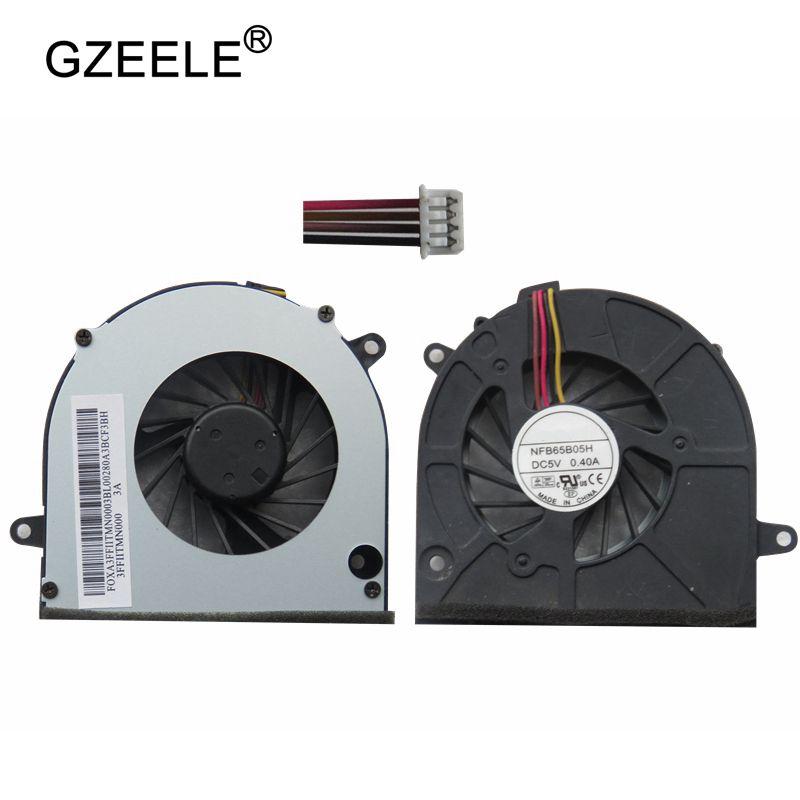 GZEELE cpu Laptop cooling fan para Lenovo G460 G460A Z565 Z460A G465 Z465 Z560A Z560 Z460 G560 G565 Notebook cpu refrigerador 4 Linhas