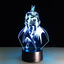 Batman 3D Led Colorful Night Light New52 Batman Acrylic USB LED Table Lamp Creative Action Figure Lighting Toy