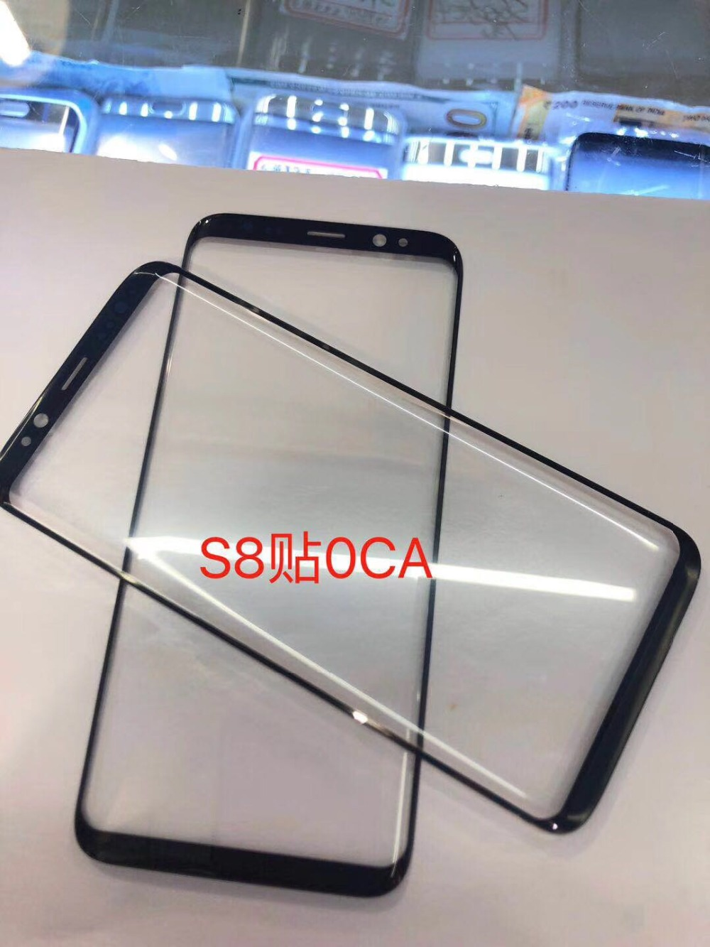 10pcs 5.8'' original For <font><b>Samsung</b></font> <font><b>Galaxy</b></font> <font><b>S8</b></font> G950 G950F front <font><b>glass</b></font> touch screen top lens <font><b>replacement</b></font> premium exterior <font><b>glass</b></font> + OCA image