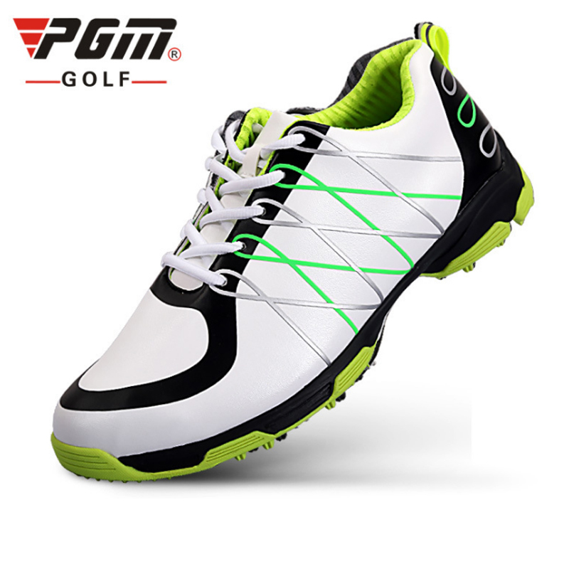 PGM PU Men Golf Shoes Lace Up Sport Shoes Breathable Leather Sneaker Golf Shoes Men Waterproof Shoes Zapato Chaussure De Golf pgm men golf shoes genuine leather breathable ultra light brown waterproof sneakers sport golf shoes mens zapatos charol hombre