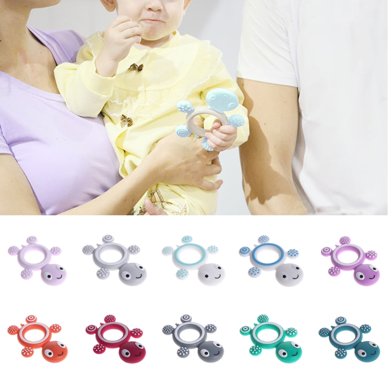 BPA Free Silicone Turtle Teething Chewable Pendant Nursing DIY Necklace Baby Pacifier Dummy Teether Toy Accessories