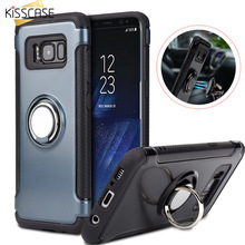 KISSCASE Ring Holder Case For Samsung Galaxy Note 8 Car Magnetic Phone Cover S8 Plus Thin Capa