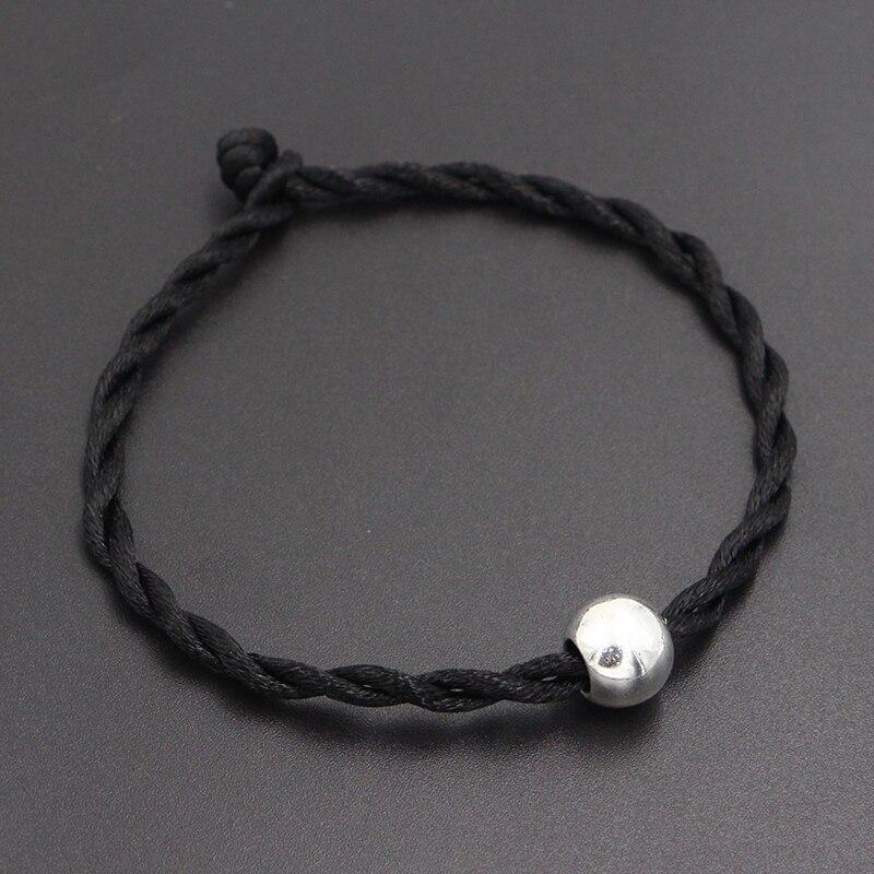 2020 New Glossy Ball Beads 4mm Red Thread String Bracelet Lucky Red Handmade Rope Charm Bracelet for Women Men Jewelry