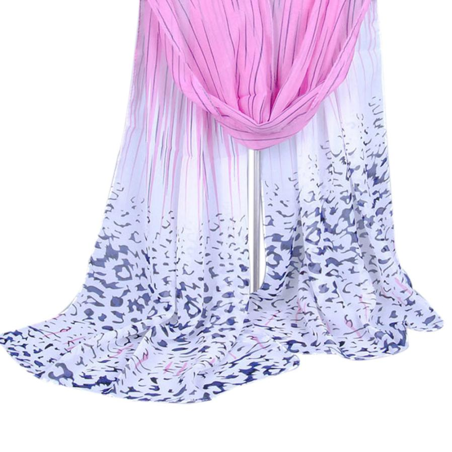 MUQGEW Za genuine Major brand Unisex fashion Tartan scarfs Fashion Women Long Leopard Shade Shawl   Scarf     Wrap   Chiffon   Scarves