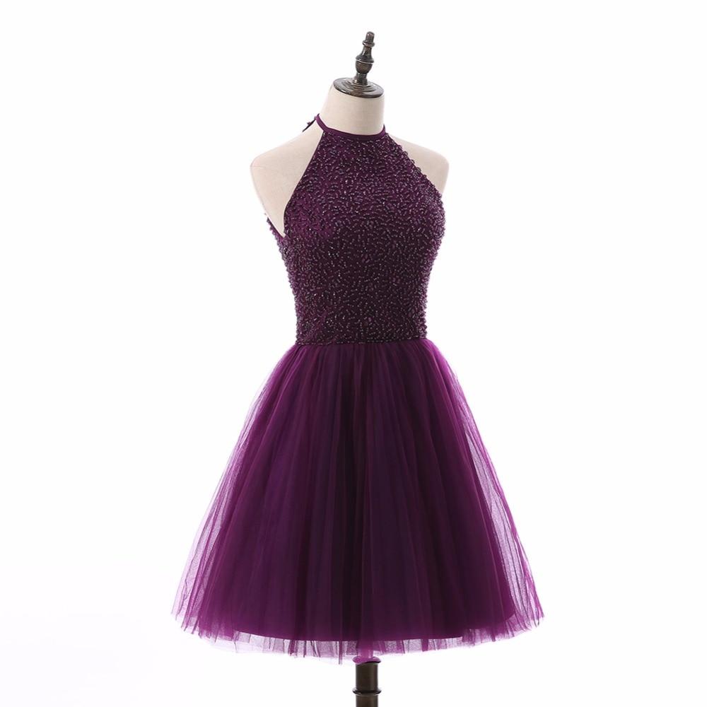 Tulle Halter Mini Dress