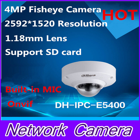 Dahua IPC-EB5400 4 MP Full HD 1080P PoE WDR Panorama 360 Degree Fisheye Dome Network IP Camera built-in MIC support SD card dh ipc ebw8600 original dahua full hd panorama 360 degree ip camera 6mp fisheye dome network camera ipc ebw8600
