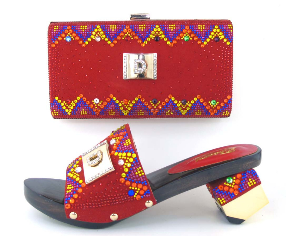 TH16 45 Top selling African font b women b font shoes and bags set big quality