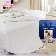 150X200CM 100% Natural High-quality Silk Comforter For Summer Russia Fast Delivery White Blanket Quilt # SP150-1000