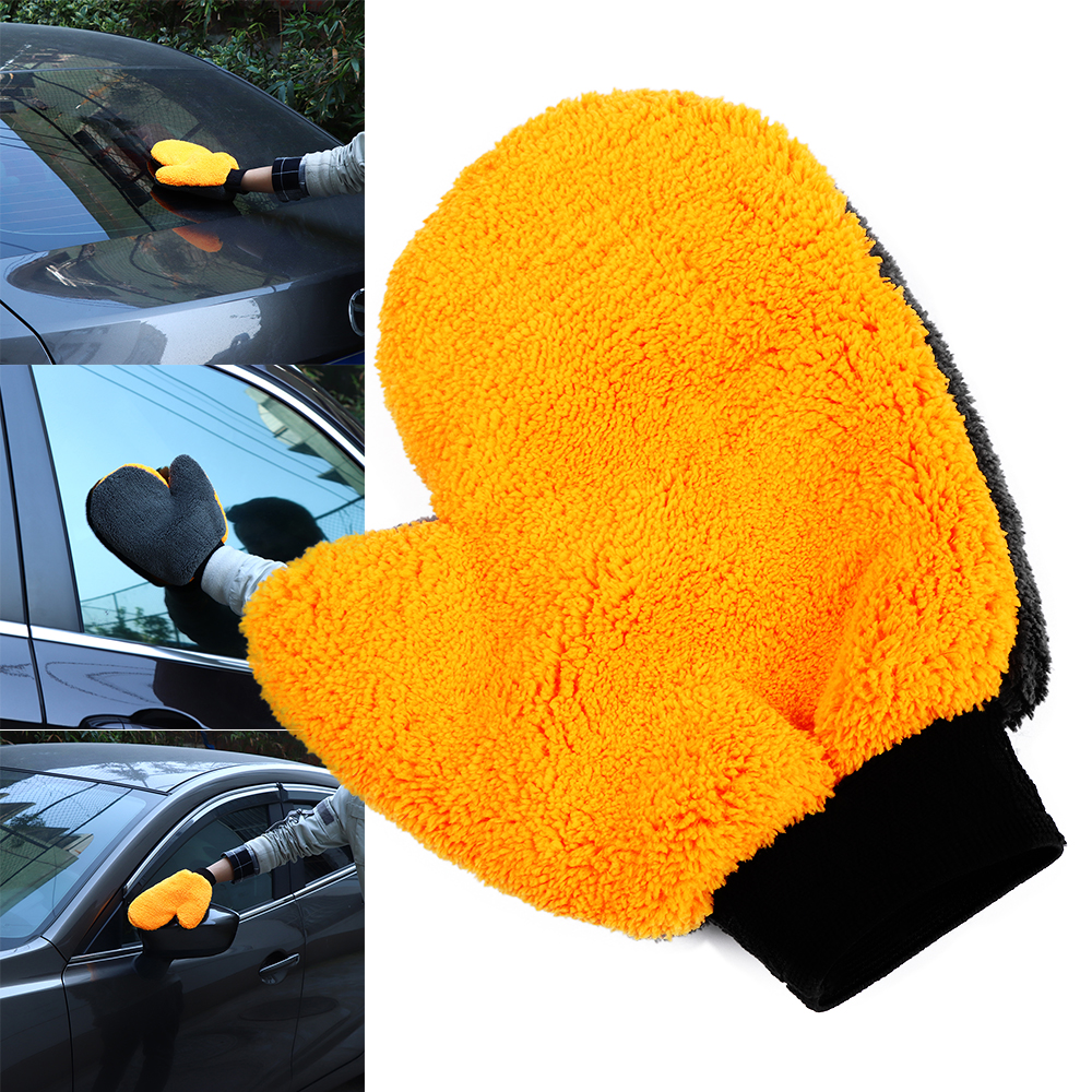 Precise 1pc New Coral Fleece Velvet Plush Short Wool Mitt Wash Car Mitten Washing Brush Cleaning Glove Tools Cloth Csl2017 Sponges, Cloths & Brushes