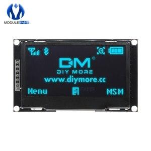 """Image 1 - Azul 2.42 """"tela lcd digital 12864 128x64 módulo de exibição oled placa para arduino ssd1309 stm32 diy eletrônico 2.42 polegada"""