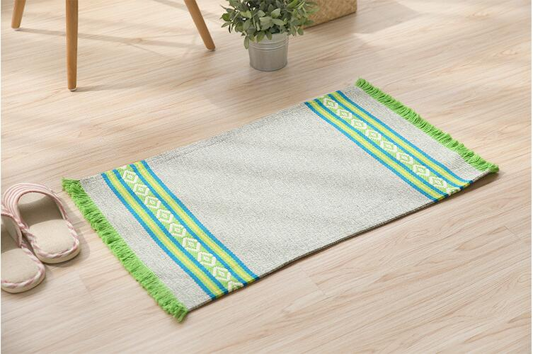 Rectangle Cotton Carpet Mat Living Room Dining Bedroom Area Rugs Anti Slip Floor Mats Bathroom Yoga Home Textile In From Garden On