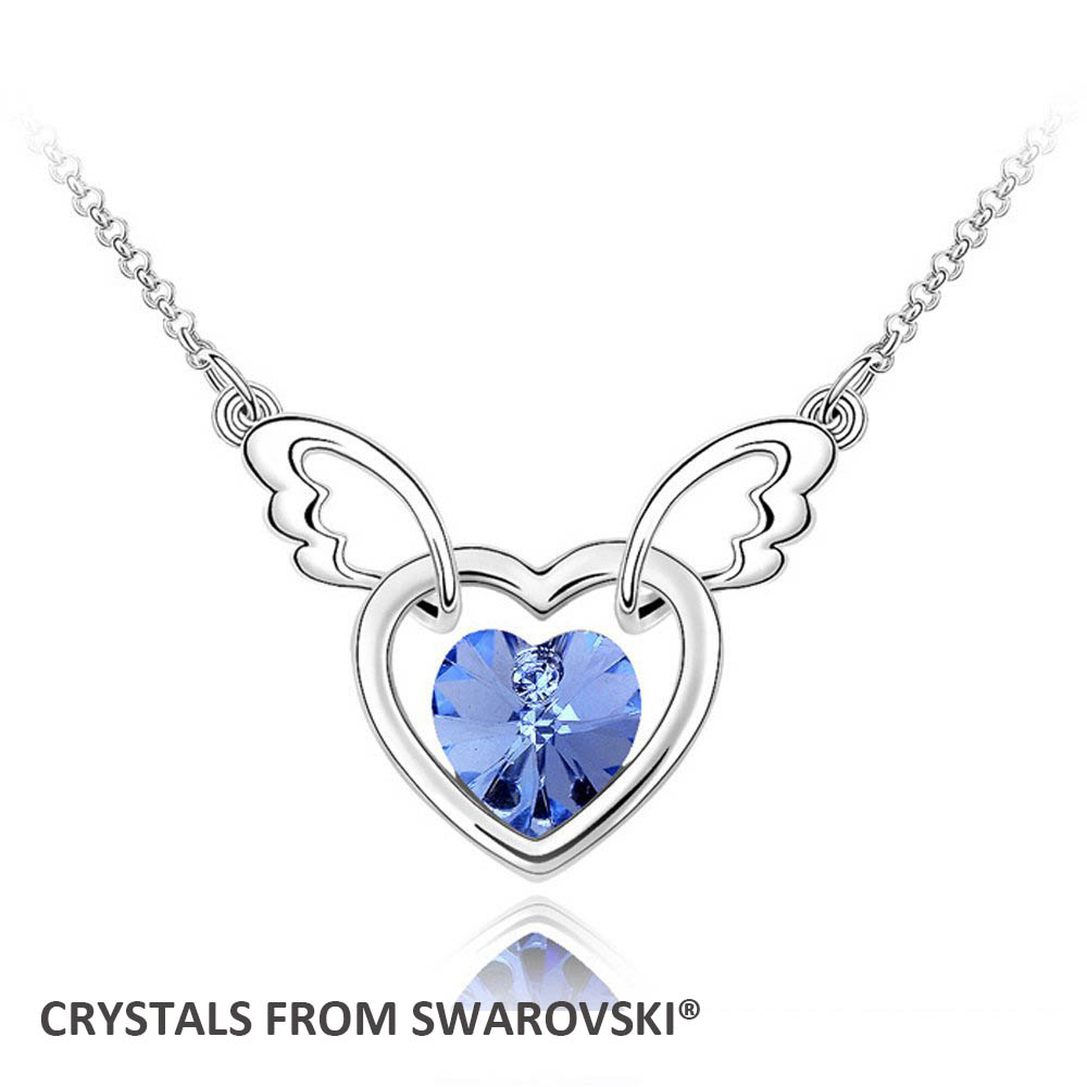 2015 Mothers Day gift! crystal heart pendant necklace With Crystals from SWAROVSKI, matching earrings available